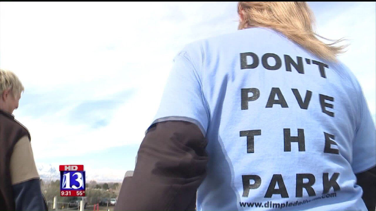 March in Dimple Dell Park protests proposal to pave 3-miles oftrail