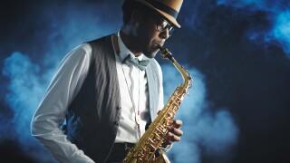 Generic jazz, saxophone player, music