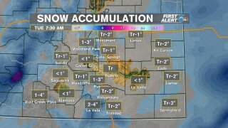 Snow Accumulation 12/27/2020