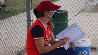 Kristen Genter, manager of the Denver Whooping Cranes baseball team