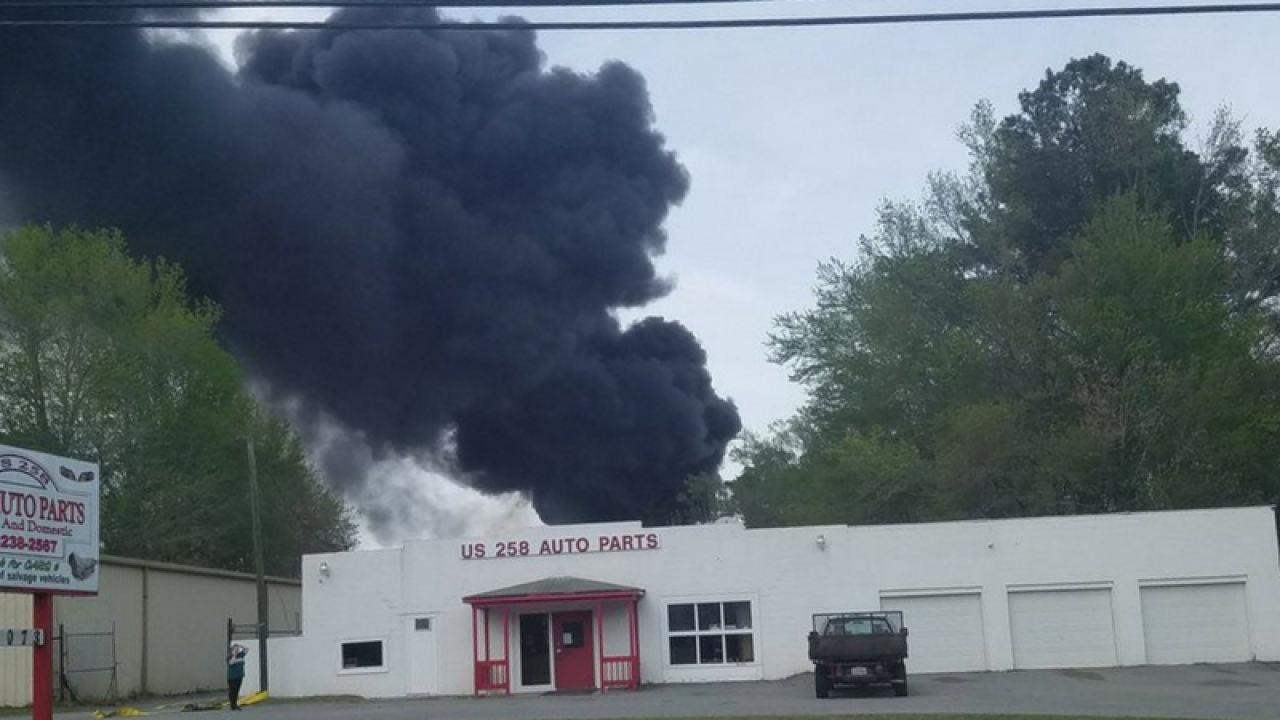 Crews respond to tire fire in Isle of Wight