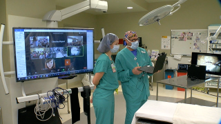Goddard students take 'virtual field trip' to St. Elizabeth operating room