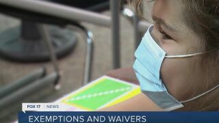 Who can obtain an exemption from masking and vaccinations
