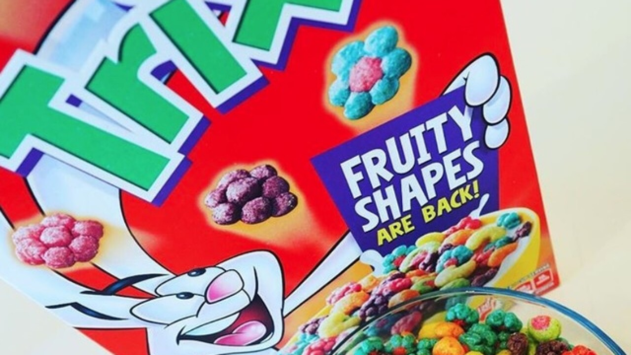 Classic fruity shapes returning to Trix cereal
