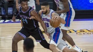 Cory Joseph Pistons Kings Basketball