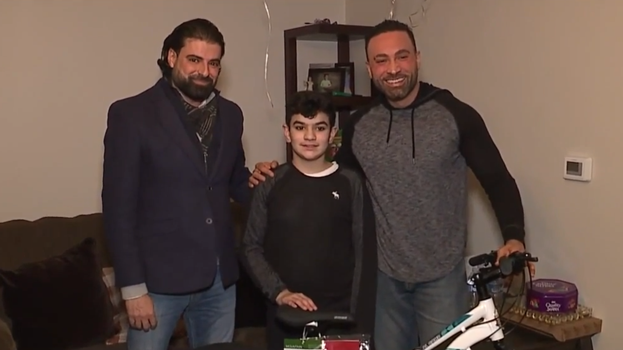 Boy surprised with new bike after his is stolen while buying flowers for mom