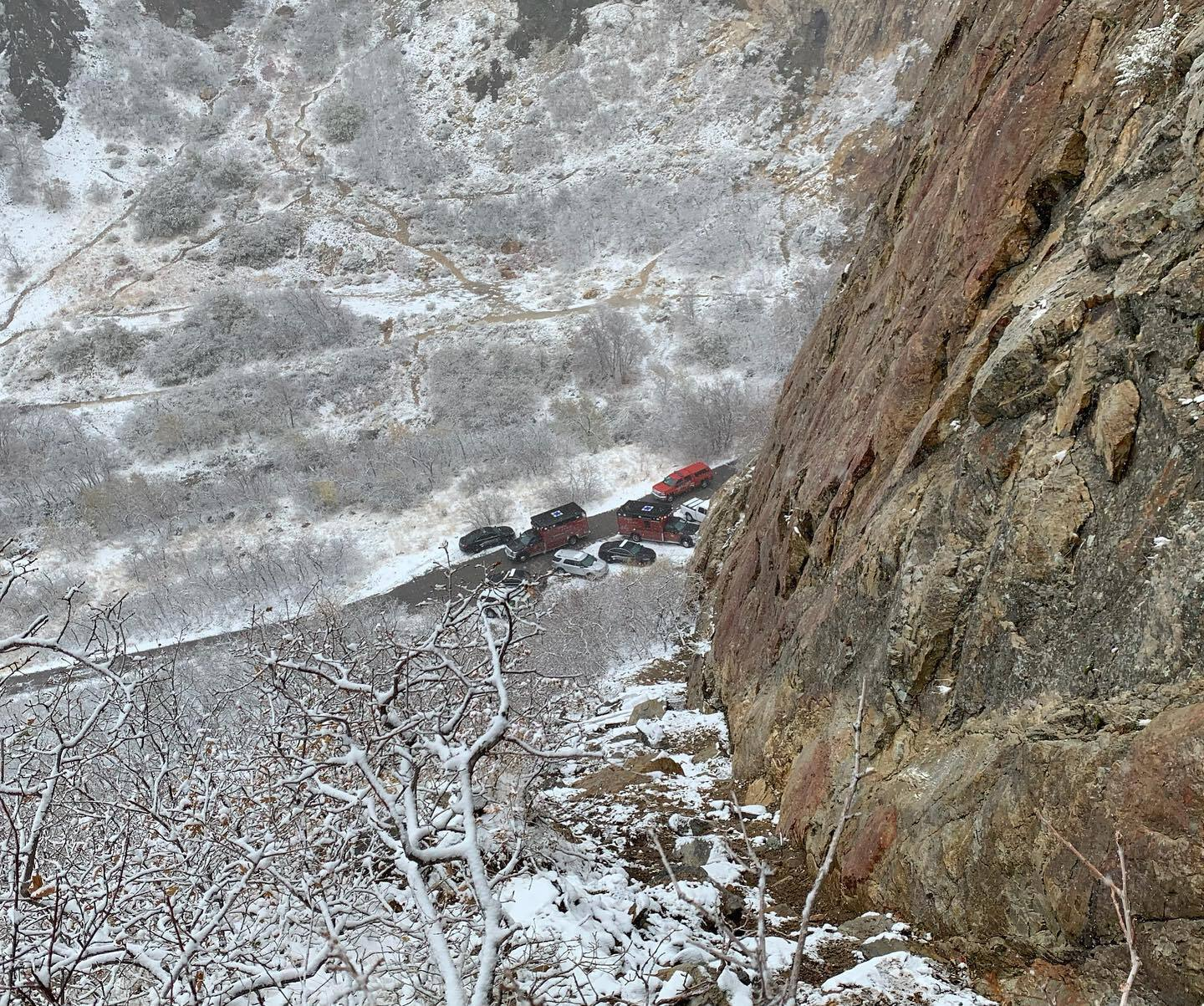 Photos: Hiker rescued in snowy conditions in Rock Canyon nearProvo