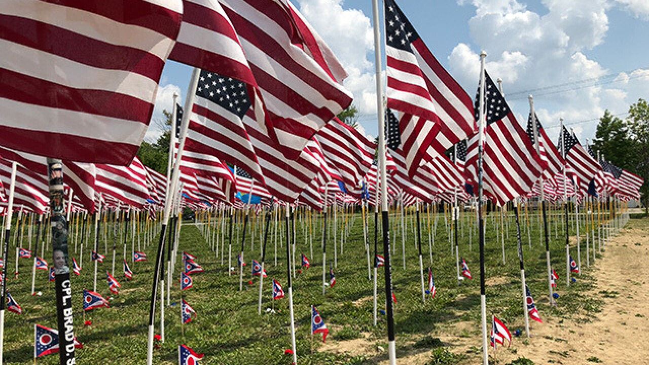 Traveling flag memorial honors the fallen