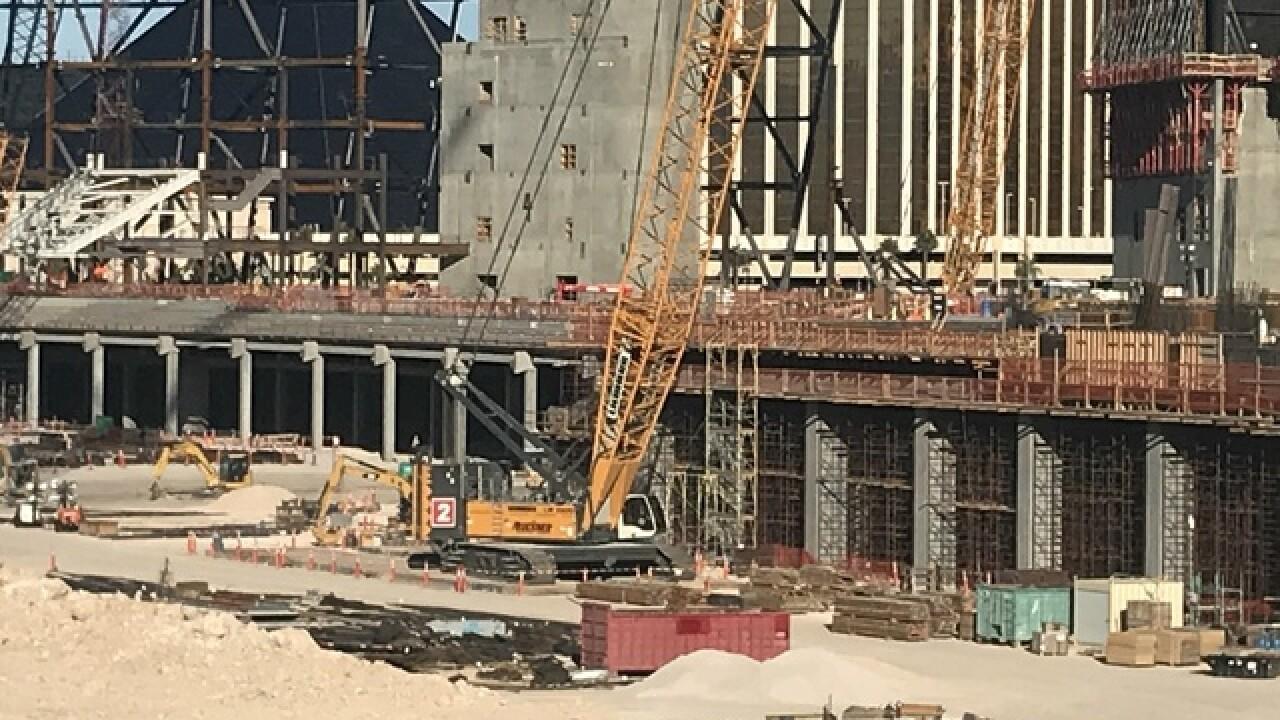 Raiders stadium construction taking shape