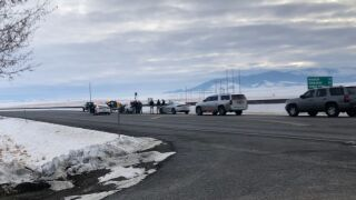 """U.S. Highway 12 is closed in East Helena after what law enforcement is calling an """"incident"""" on Thursday."""