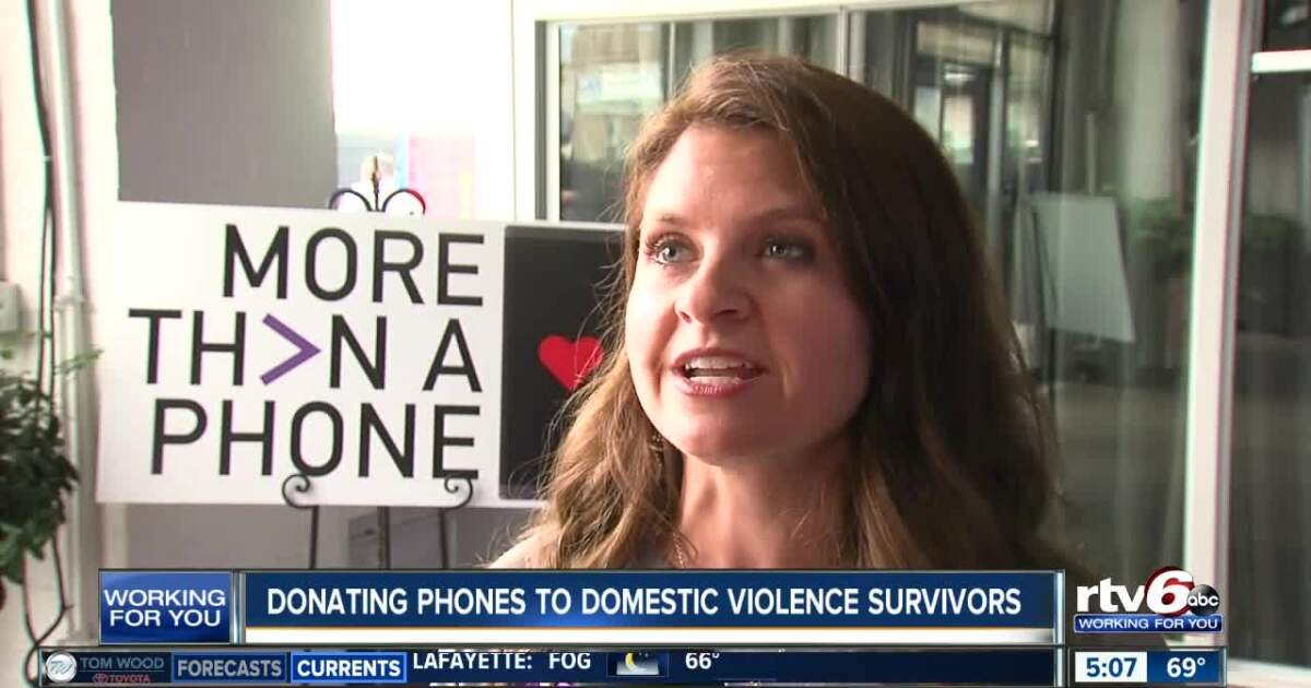 Donating phones to domestic violence survivors in Indy