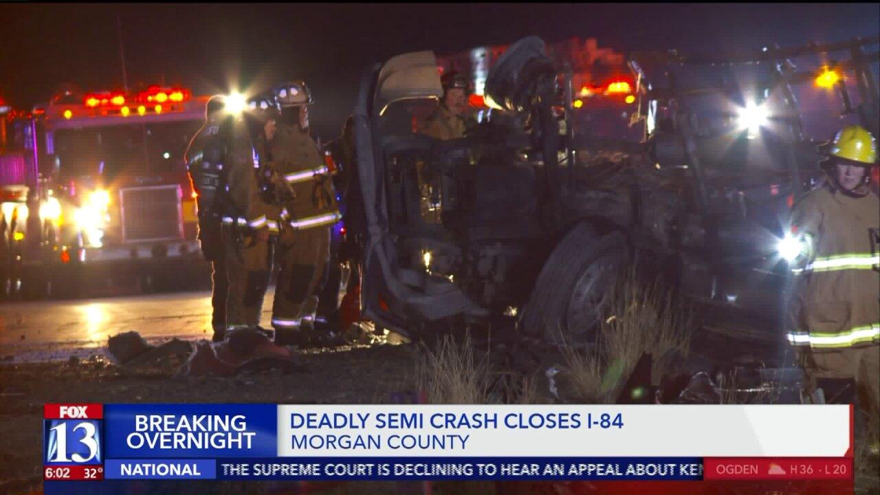 Man killed in semi crash onI-84