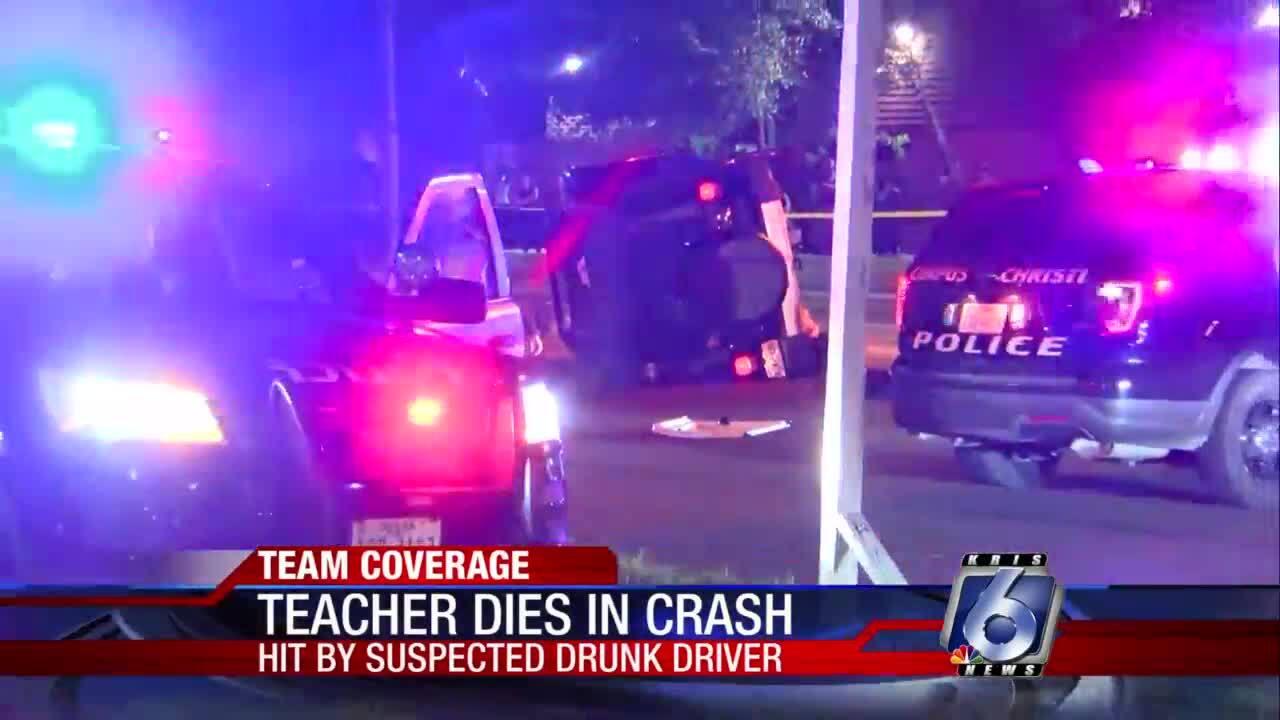 Teacher dies in two-vehicle crash