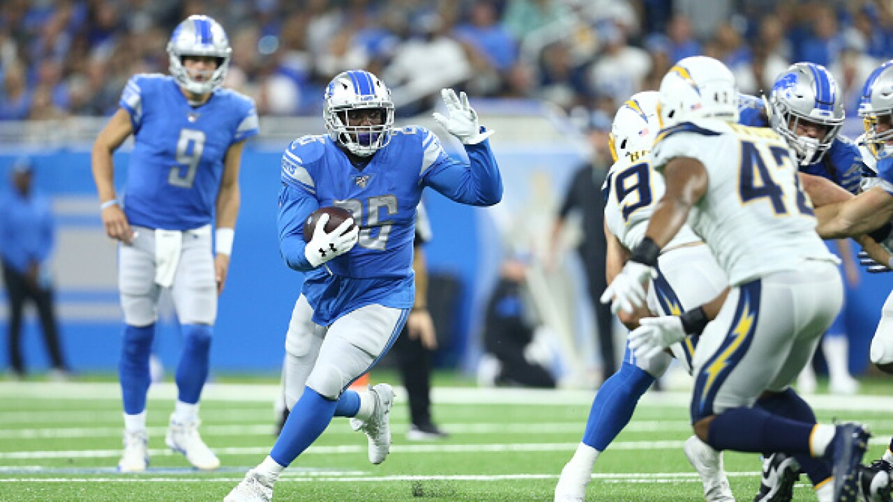 Lions cut RB CJ Anderson, awarded Perkins