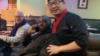 Kanye West visits Teppin Fuji Facebook