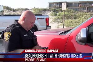 Beachgoers were hit with parking tickets