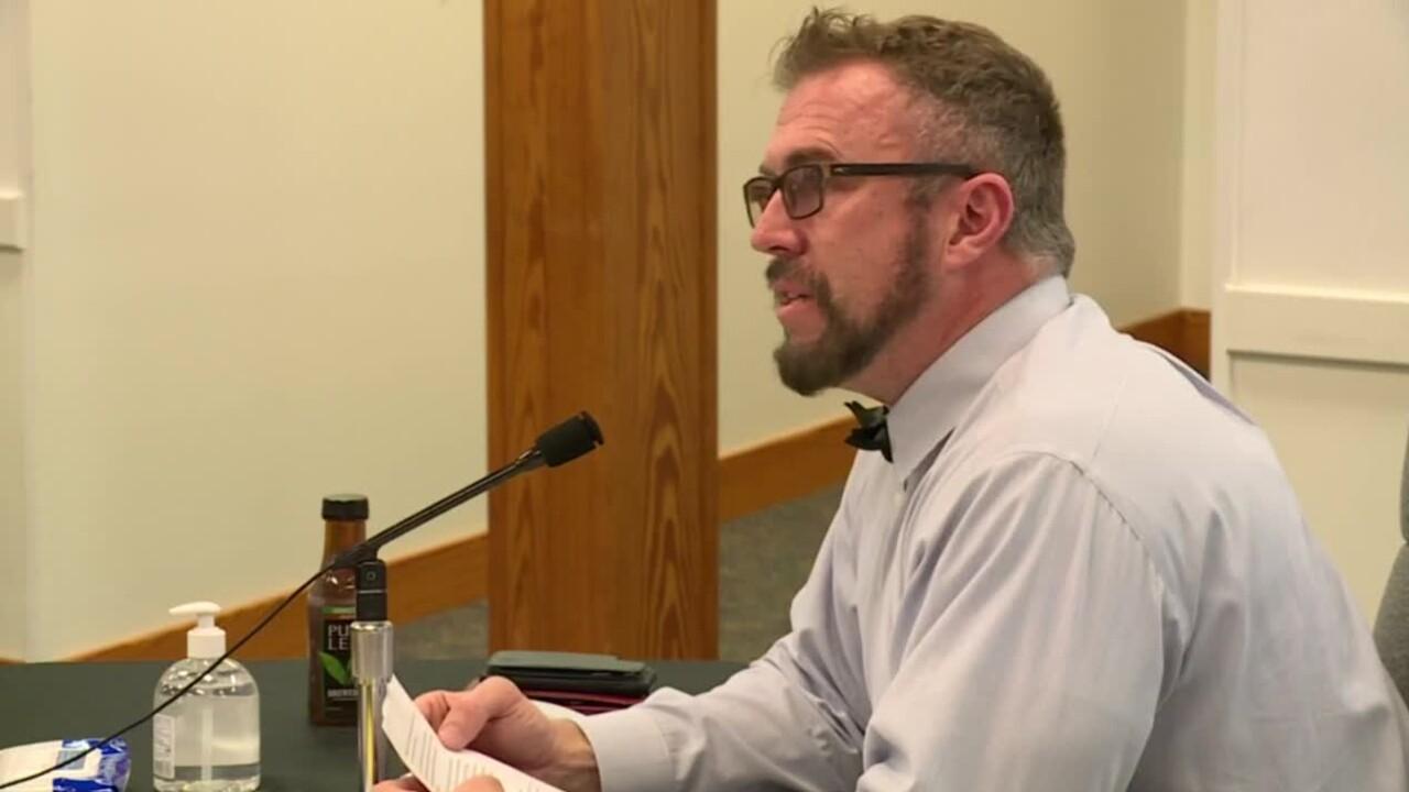 Martin County Superintendent Dr. John Millay addresses school board members on May 12, 2021.jpg
