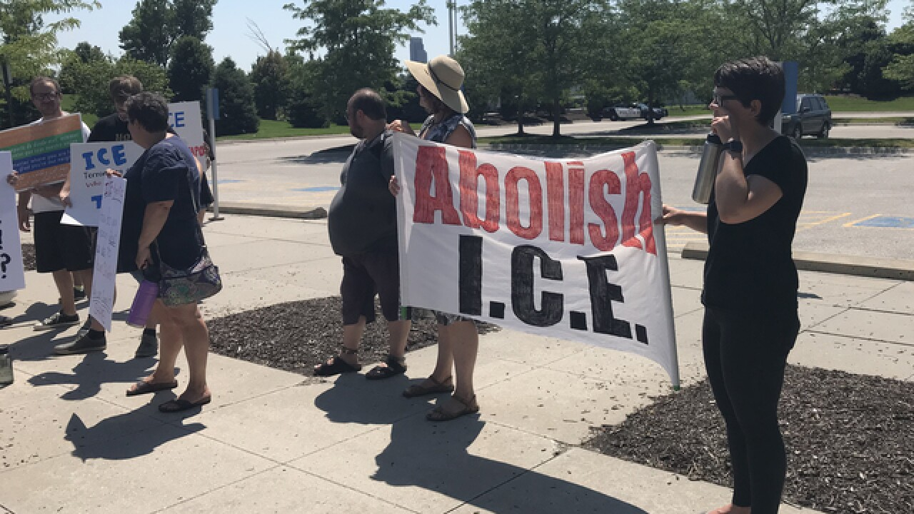 Group gathers to protest ICE, family separations