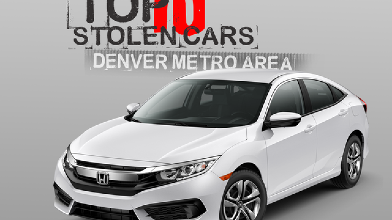 Own one of these? The top 10 stolen cars in the Denver metro area