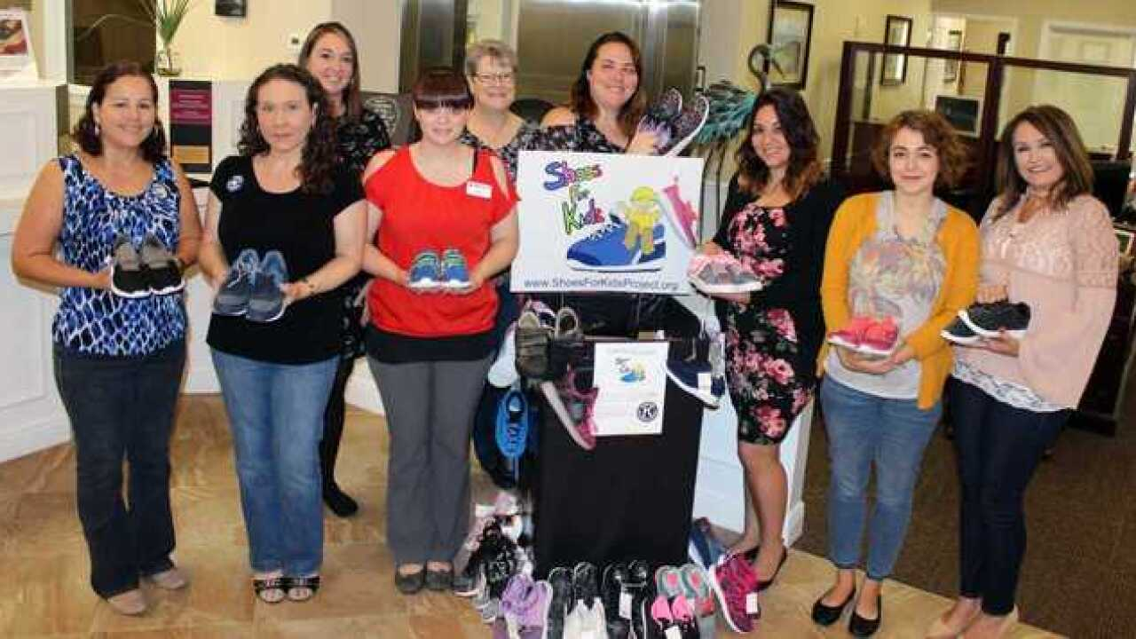 Bank collects shoes for community kids