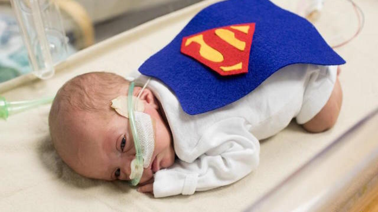 NICU babies given tiny Halloween costumes