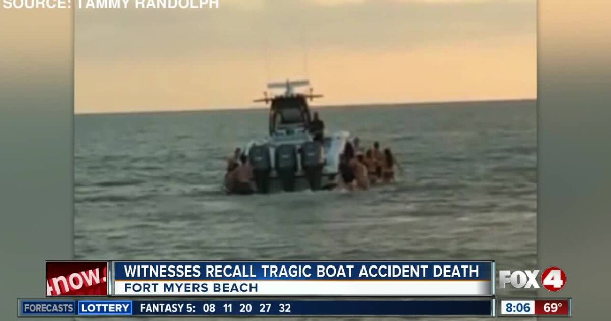 Witnesses recall moment woman dies by boat propeller