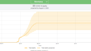 Montana COVID-19 model updated, fewer deaths forecast