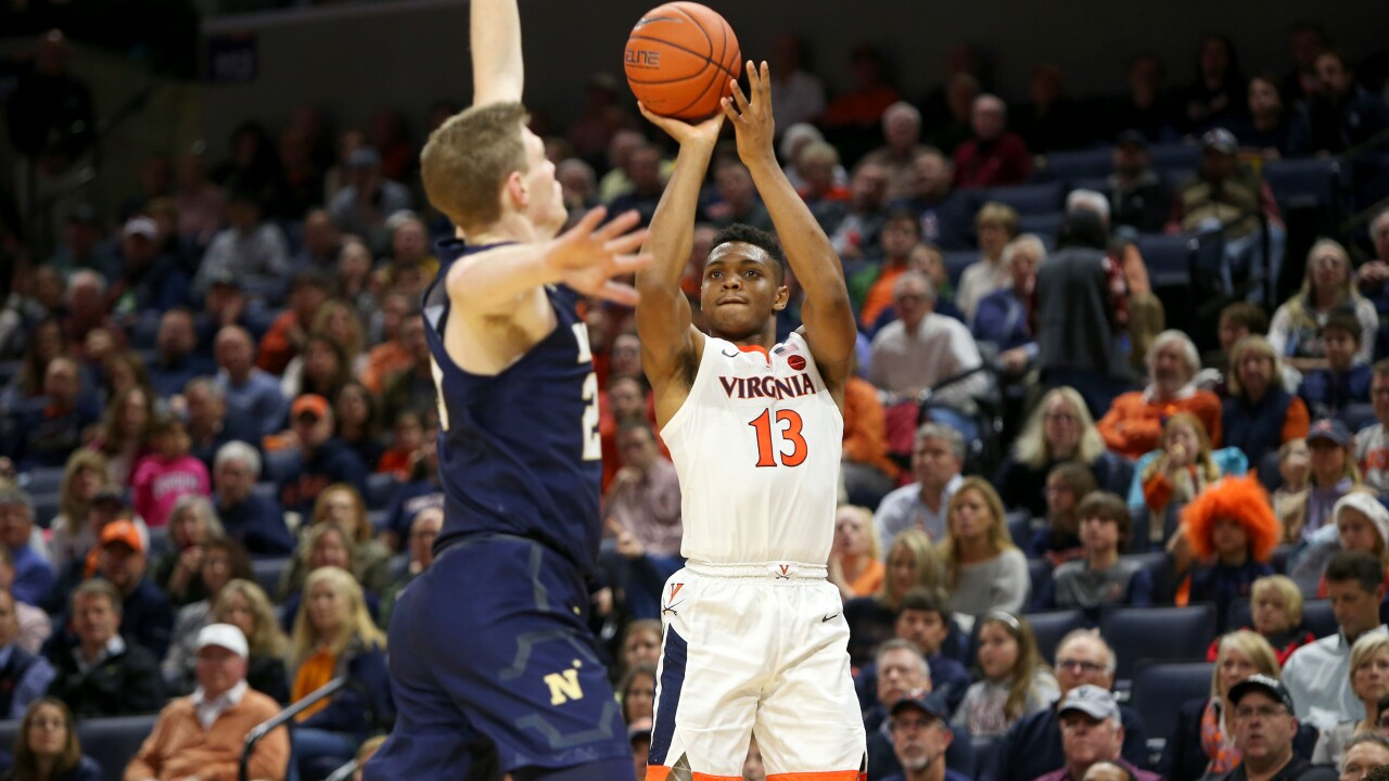 UVA men's hoops closes out the decade with a win against Navy, 65-56