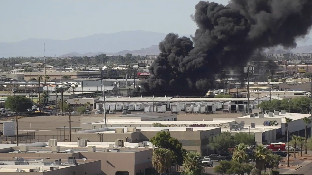 Fire near 27th Avenue and McDowell Road