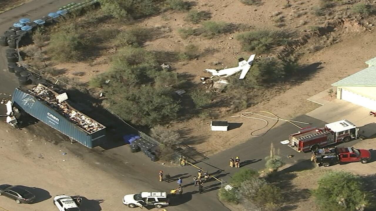 Officials: Plane crashes near Wickenburg Airport