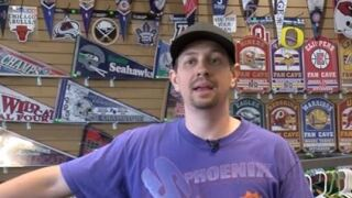 Phoenix Suns gear is selling out fast at a Tucson sports store.