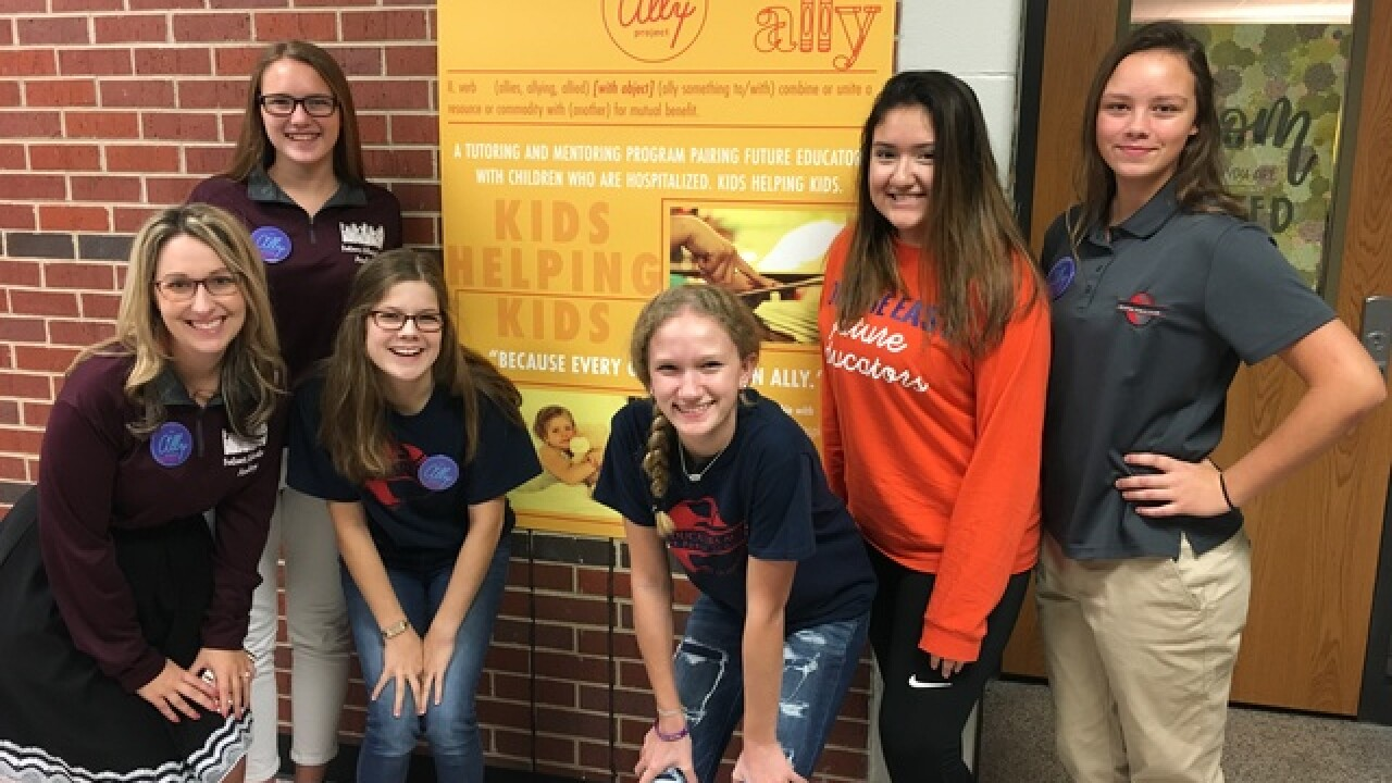 Olathe East students teach kids in the hospital