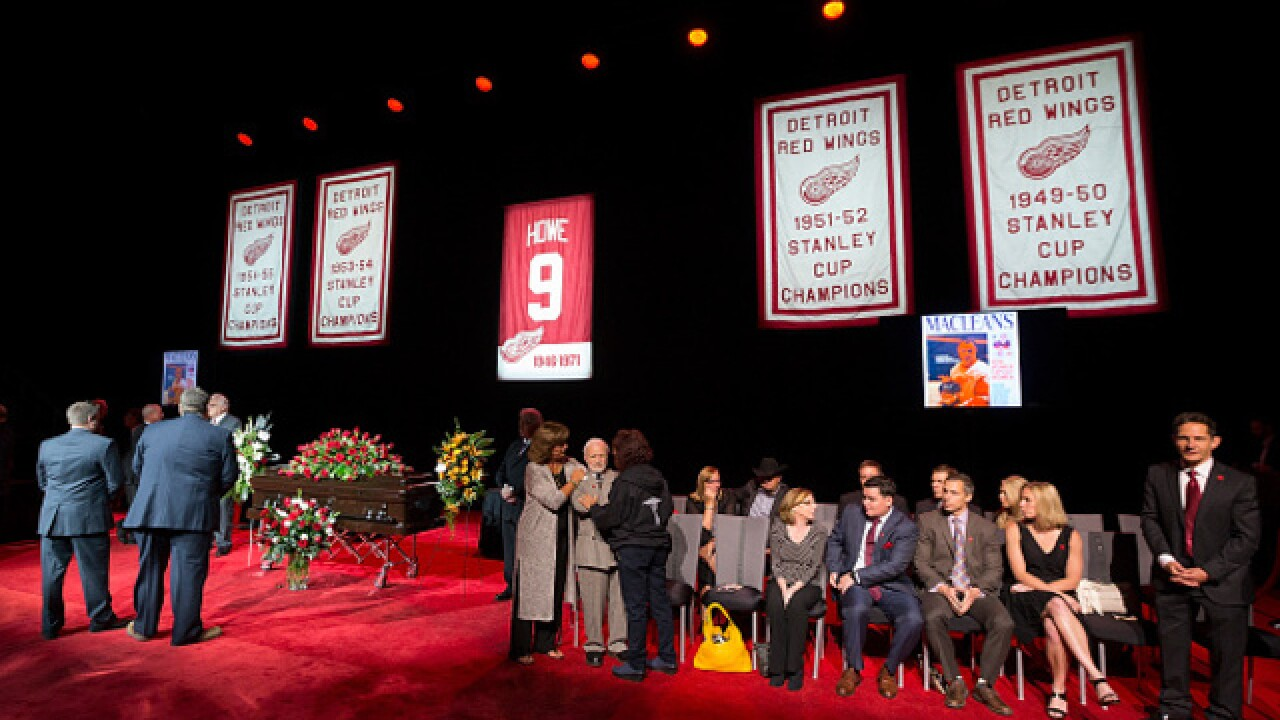 PHOTO GALLERY: Gordie Howe public visitation