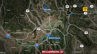 I15 Idaho Semi Crash Map