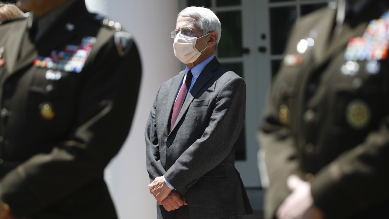 Fauci says he wears a mask as a sign of respect, adds it's 'the kind of thing you should be doing'