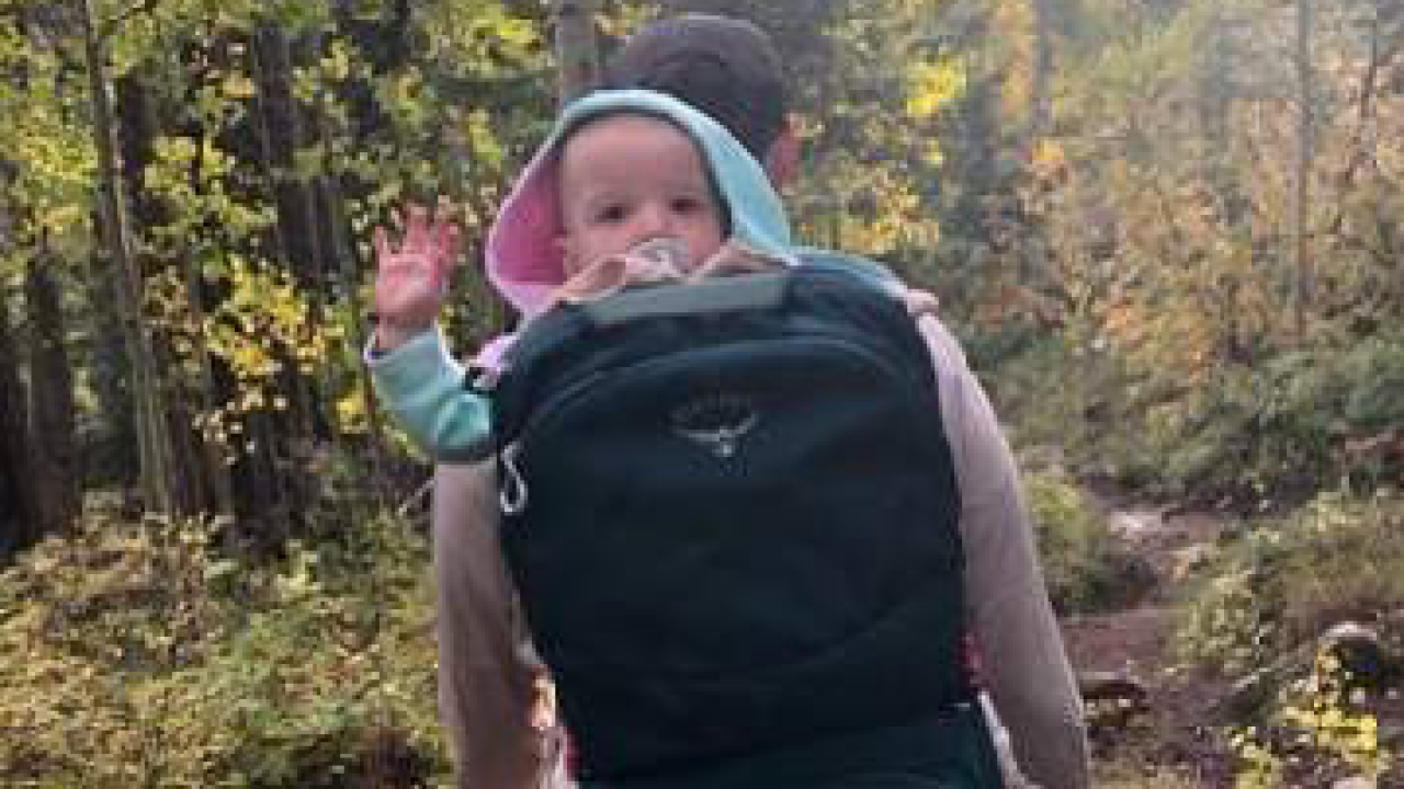 Millie Sadler waves to camera while on hike with her parents near Durango..png