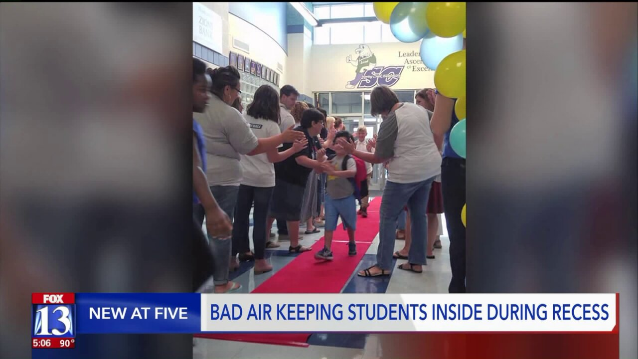 Wildfire smoke forces some Provo schools to hold indoor recess on first day ofschool