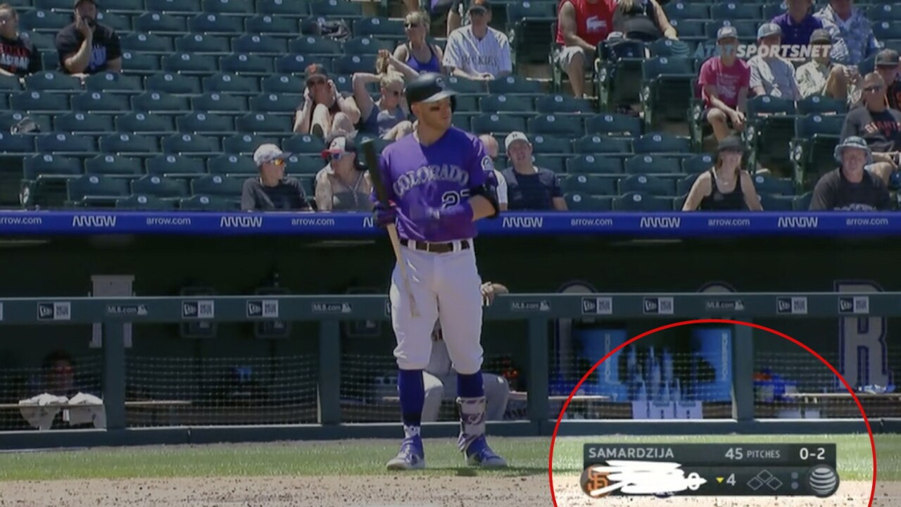 Rockies broadcast team comically crossed out the scoreboard during