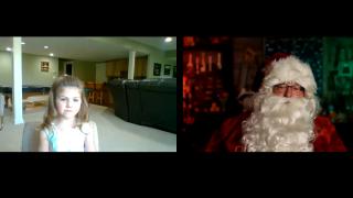 Santa Zooms Hello