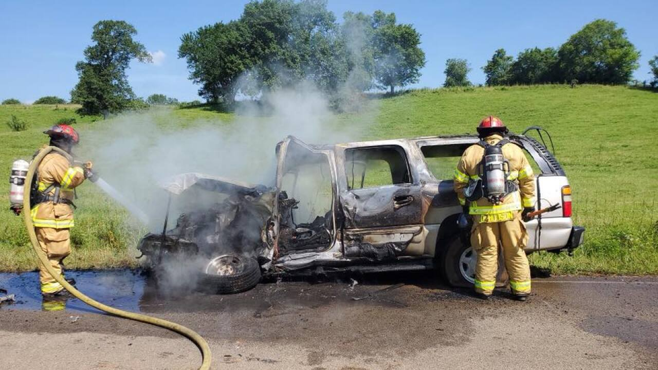 maury county vehicle fire