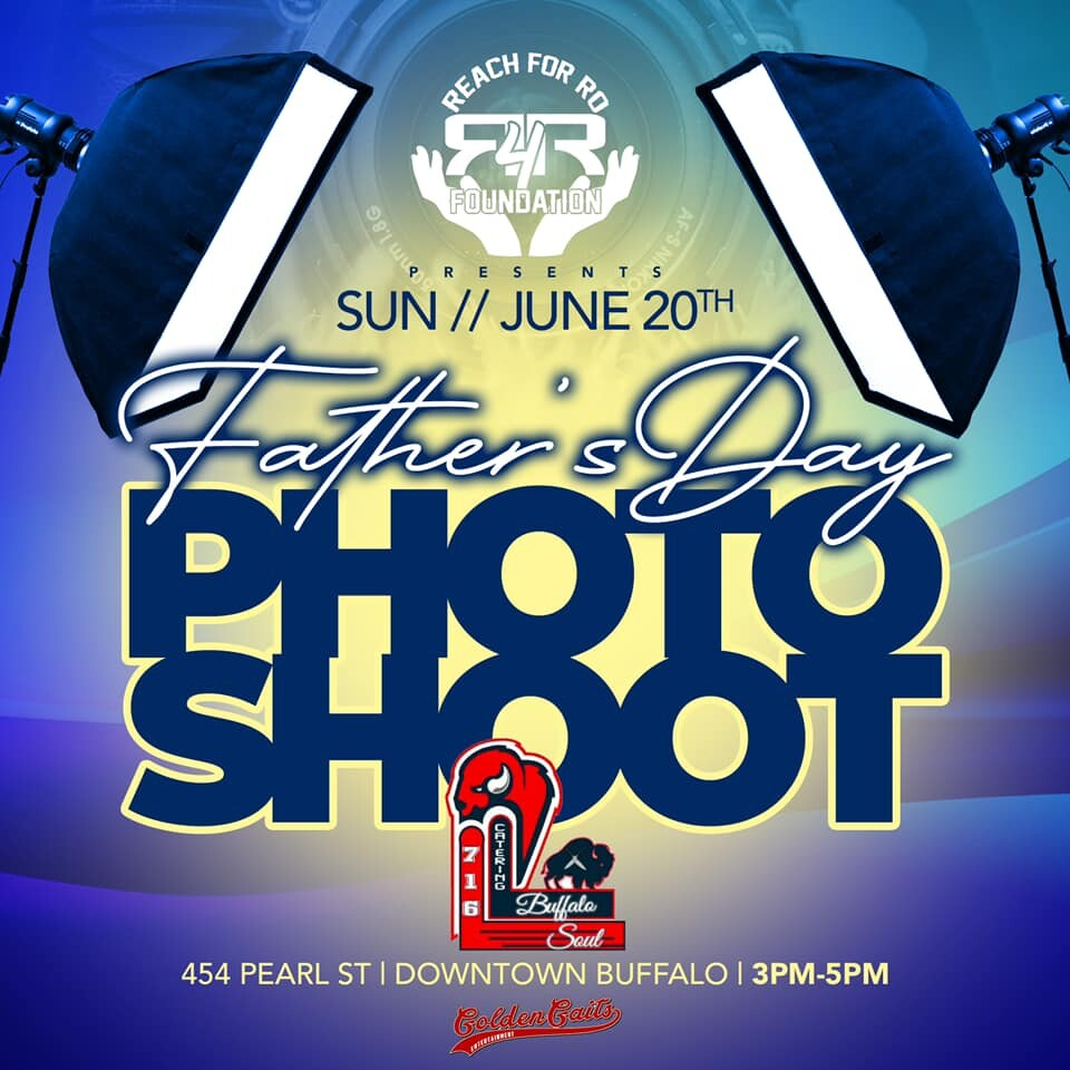 The Father's Day photoshoot takes place from 3-5pm