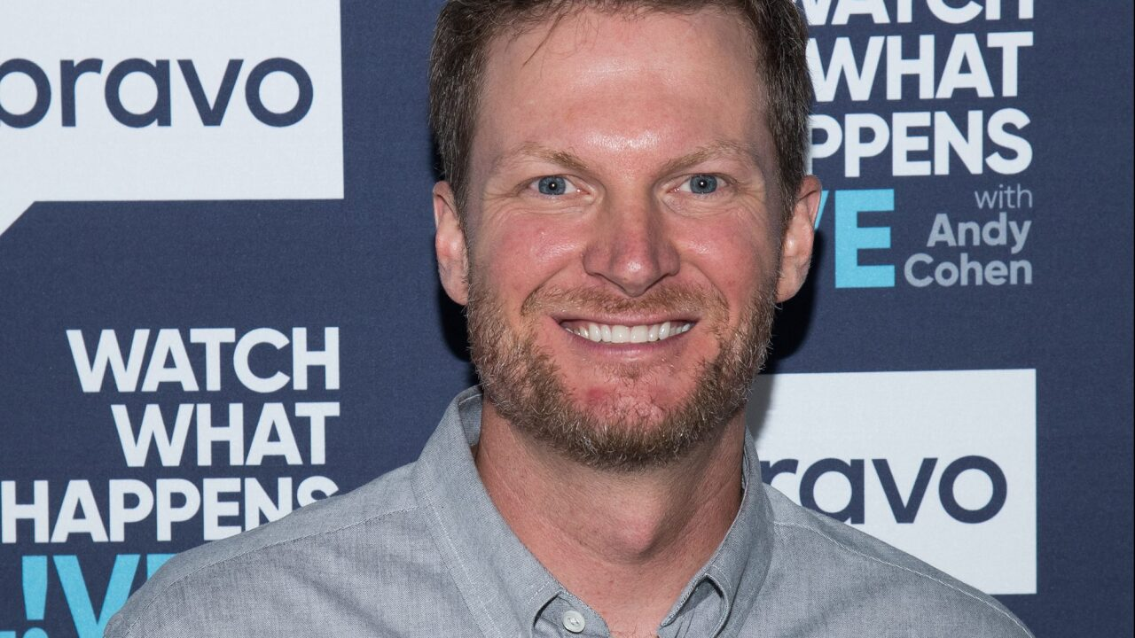 Dale Earnhardt Jr. gets a break from the broadcast booth after plane crash