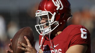 Heisman Trophy finalist Baker Mayfield arrives in New York City