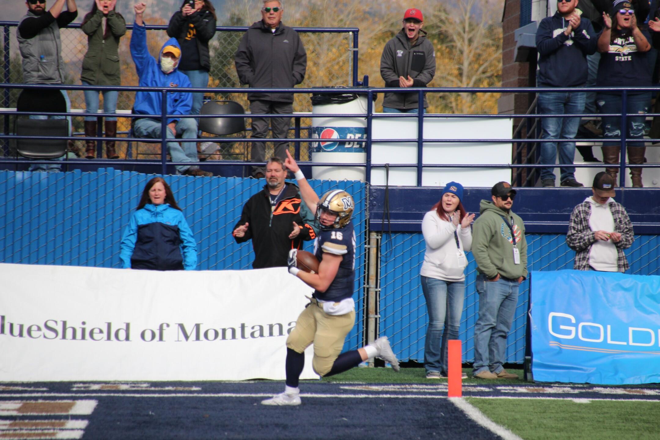 QB Tommy Mellott celebrates a 74-yard touchdown run