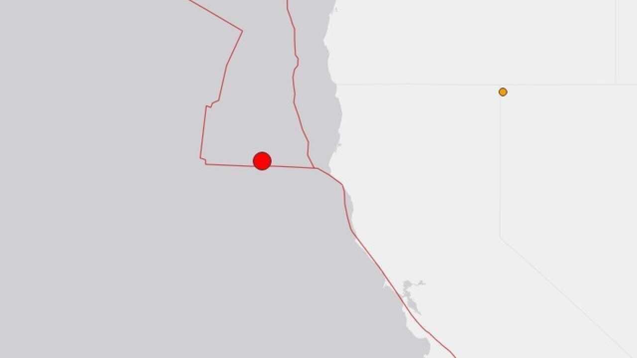 6.5 magnitude earthquake reported off Northern California coast