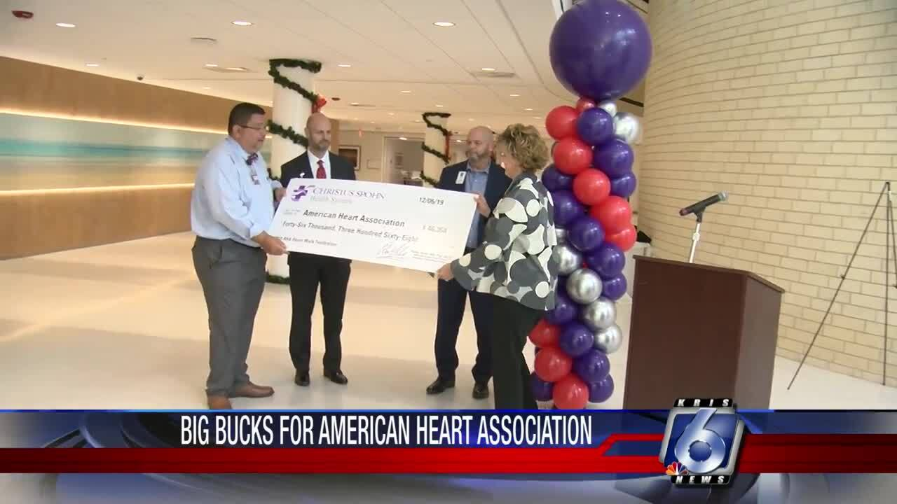 Christus Spohn Health System raised much money for the American Heart Association