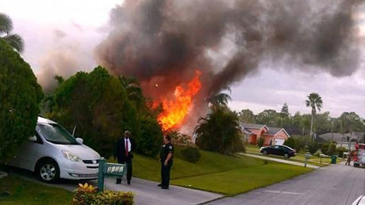 Unoccupied house fire extinguished in Port St. Lucie