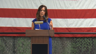 Second Lady Karen Pence meets with military families in Billings