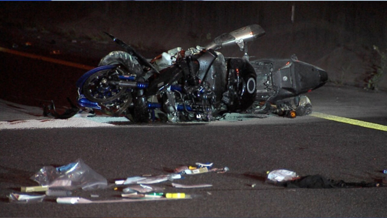Motorcyclist dead after 100 mph crash