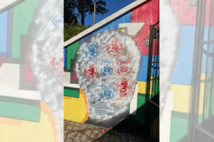 Mural of Arthur Ashe in Richmond park defaced